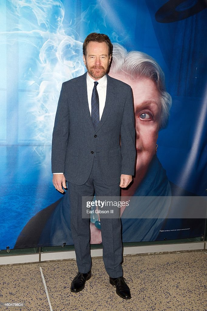 Actor Bryan Cranston attends Noel Coward's 'Blithe SpiritLos Angeles Opening Night Performance at Ahmanson Theatre on December 14 2014 in Los Angeles...