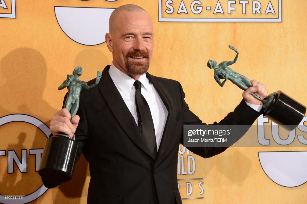 Actor <a gi-track='captionPersonalityLinkClicked' href=/galleries/search?phrase=Bryan+Cranston&family=editorial&specificpeople=217768 ng-click='$event.stopPropagation()'>Bryan Cranston</a> attends the 19th Annual Screen Actors Guild Awards at The Shrine Auditorium on January 27, 2013 in Los Angeles, California. (Photo by Jason Merritt/WireImage) 23116_014_3457.JPG