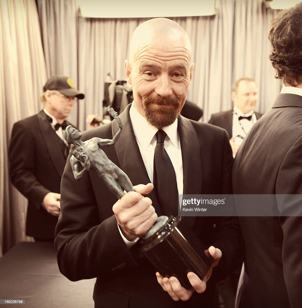 Actor <a gi-track='captionPersonalityLinkClicked' href=/galleries/search?phrase=Bryan+Cranston&family=editorial&specificpeople=217768 ng-click='$event.stopPropagation()'>Bryan Cranston</a> attends the 19th Annual Screen Actors Guild Awards at The Shrine Auditorium on January 27, 2013 in Los Angeles, California. (Photo by Kevin Winter/WireImage) 23116_017_1889.JPG