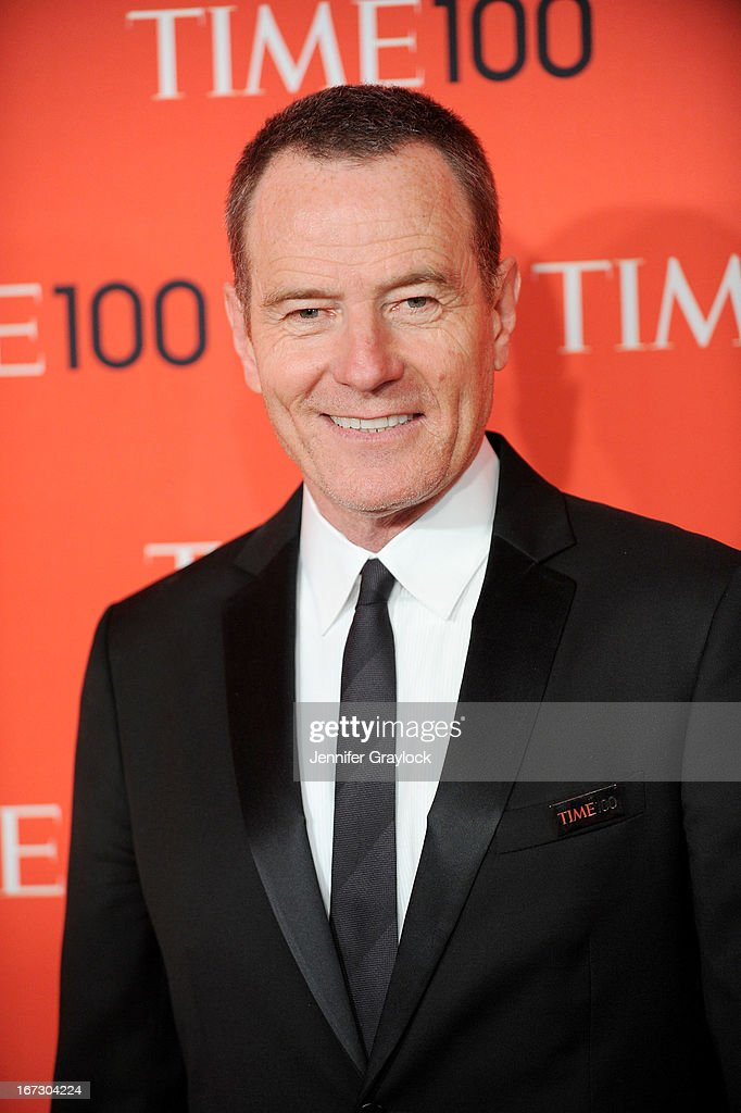 Actor <a gi-track='captionPersonalityLinkClicked' href=/galleries/search?phrase=Bryan+Cranston&family=editorial&specificpeople=217768 ng-click='$event.stopPropagation()'>Bryan Cranston</a> attends the 2013 Time 100 Gala at Frederick P. Rose Hall, Jazz at Lincoln Center on April 23, 2013 in New York City.