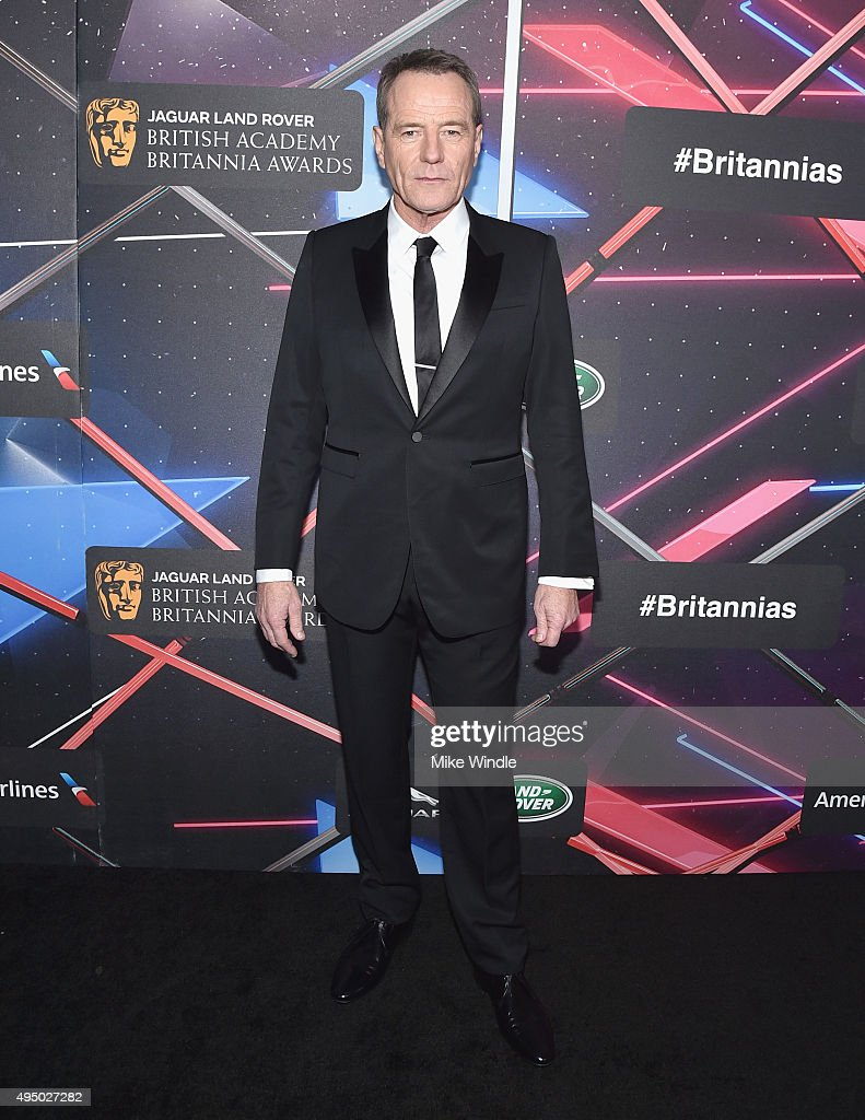 Actor Bryan Cranston attends the 2015 Jaguar Land Rover British Academy Britannia Awards presented by American Airlines at The Beverly Hilton Hotel on October 30, 2015 in Beverly Hills, California.