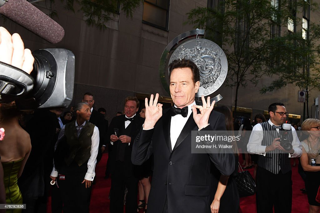 Actor Bryan Cranston attends the 2015 Tony Awards at Radio City Music Hall on June 7 2015 in New York City