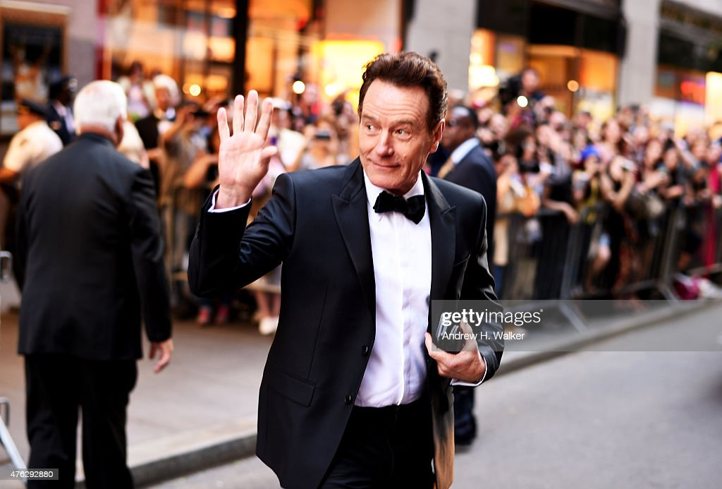 Actor <a gi-track='captionPersonalityLinkClicked' href=/galleries/search?phrase=Bryan+Cranston&family=editorial&specificpeople=217768 ng-click='$event.stopPropagation()'>Bryan Cranston</a> attends the 2015 Tony Awards at Radio City Music Hall on June 7, 2015 in New York City.