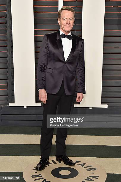 Actor Bryan Cranston attends the 2016 Vanity Fair Oscar Party Hosted By Graydon Carter at the Wallis Annenberg Center for the Performing Arts on...