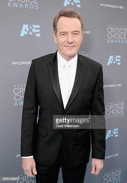 Actor Bryan Cranston attends the 21st Annual Critics' Choice Awards at Barker Hangar on January 17 2016 in Santa Monica California