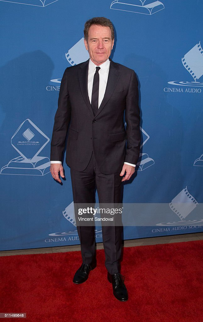 Actor Bryan Cranston attends the 52nd Annual Cinema Audio Society Awards at Millennium Biltmore Hotel on February 20 2016 in Los Angeles California