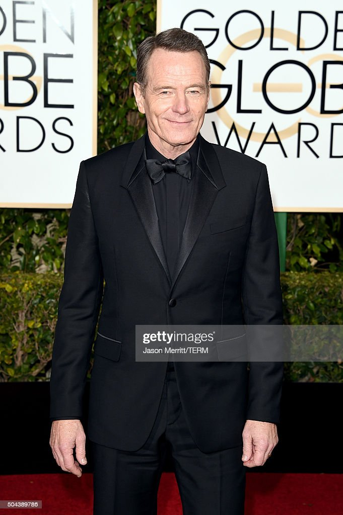 Actor <a gi-track='captionPersonalityLinkClicked' href=/galleries/search?phrase=Bryan+Cranston&family=editorial&specificpeople=217768 ng-click='$event.stopPropagation()'>Bryan Cranston</a> attends the 73rd Annual Golden Globe Awards held at the Beverly Hilton Hotel on January 10, 2016 in Beverly Hills, California.