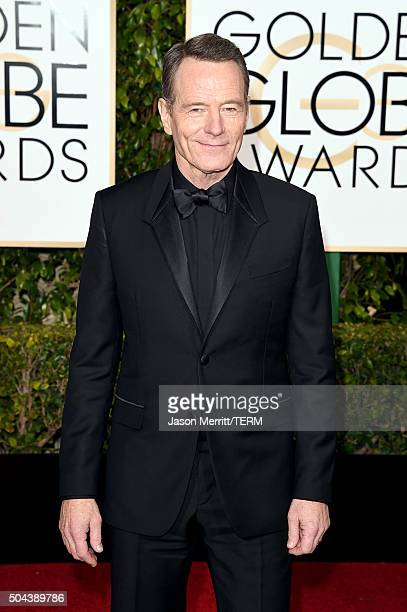 Actor Bryan Cranston attends the 73rd Annual Golden Globe Awards held at the Beverly Hilton Hotel on January 10 2016 in Beverly Hills California