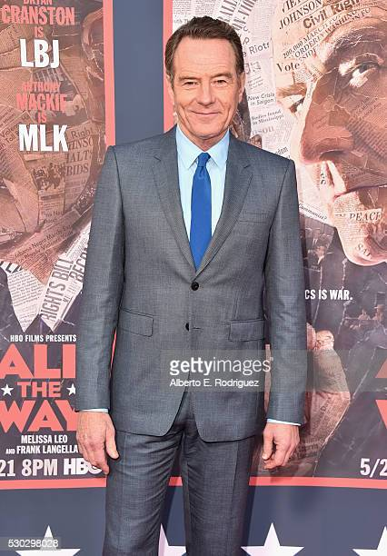 Actor Bryan Cranston attends the 'All The Way' Los Angeles Premiere at Paramount Studios on May 10 2016 in Hollywood City
