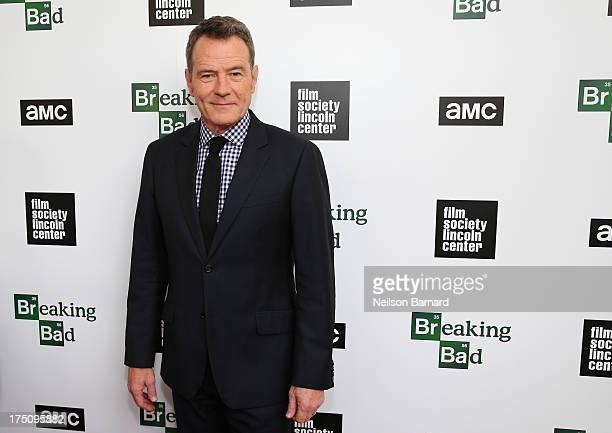 Actor Bryan Cranston attends The Film Society of Lincoln Center and AMC Celebration of 'Breaking Bad' Final Episodes at The Film Society of Lincoln...
