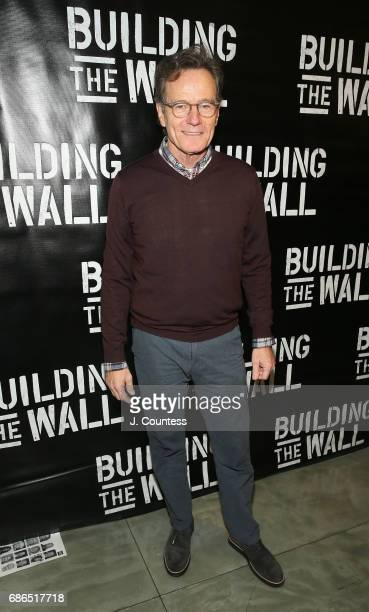 Actor Bryan Cranston attends the opening night of 'Building The Wall' at New World Stages on May 21 2017 in New York City