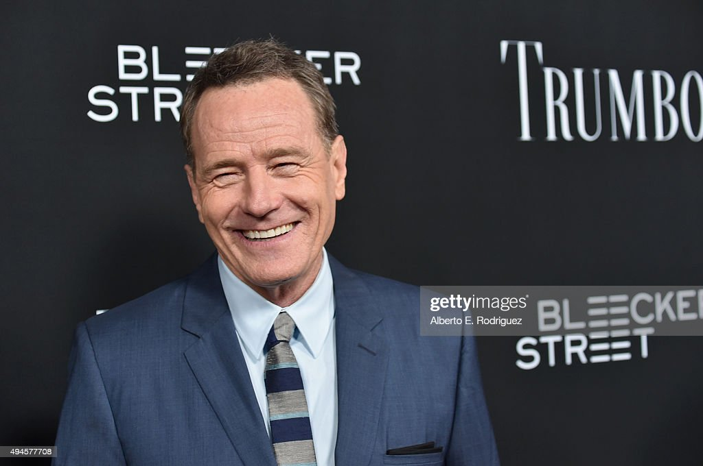 Actor <a gi-track='captionPersonalityLinkClicked' href=/galleries/search?phrase=Bryan+Cranston&family=editorial&specificpeople=217768 ng-click='$event.stopPropagation()'>Bryan Cranston</a> attends the premiere of Bleecker Street Media's 'Trumbo' at AMPAS Samuel Goldwyn Theater on October 27, 2015 in Beverly Hills, California.