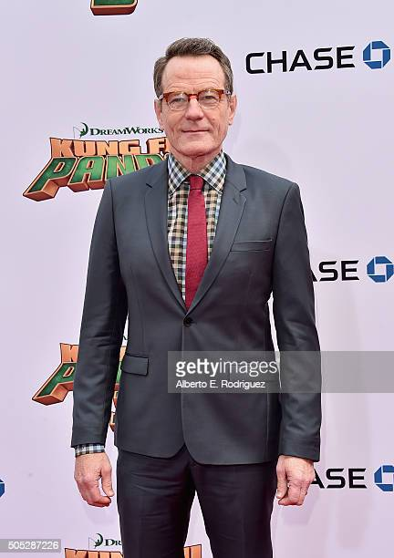 Actor Bryan Cranston attends the premiere of DreamWorks Animation and Twentieth Century Fox's 'Kung Fu Panda 3' at TCL Chinese Theatre on January 16...