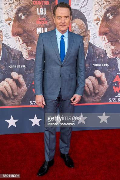 Actor Bryan Cranston attends the premiere of HBO's 'All The Way' at Paramount Studios on May 10 2016 in Hollywood California