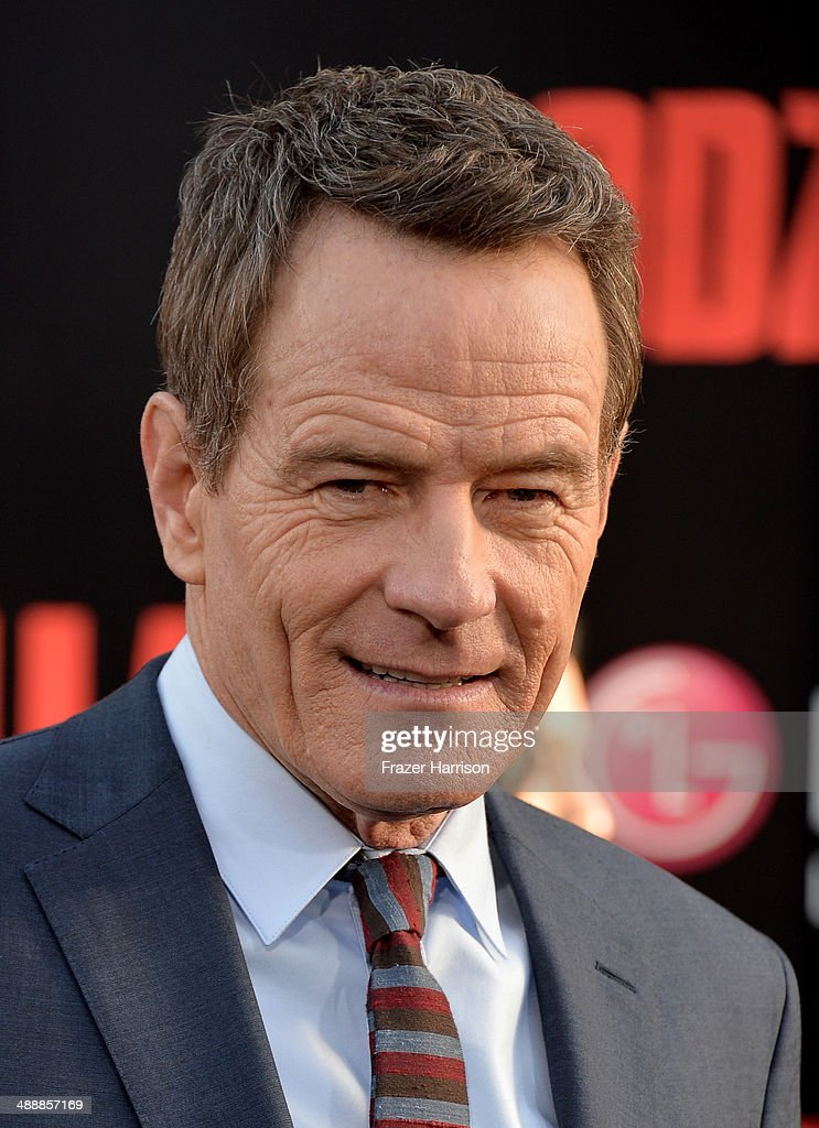 Actor <a gi-track='captionPersonalityLinkClicked' href=/galleries/search?phrase=Bryan+Cranston&family=editorial&specificpeople=217768 ng-click='$event.stopPropagation()'>Bryan Cranston</a> attends the premiere of Warner Bros. Pictures and Legendary Pictures' 'Godzilla' at Dolby Theatre on May 8, 2014 in Hollywood, California.