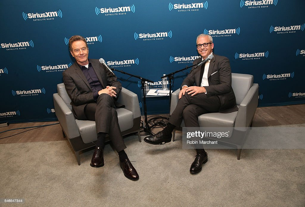 Actor Bryan Cranston is interviewed by Jess Cagle at SiriusXM's 'Town Hall' With Bryan Cranston at SiriusXM Studios on July 12 2016 in New York City...