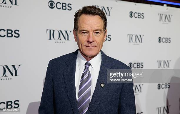 Actor Bryan Cranston nominee for Best Performance by an Actor in a Leading Role in a Play for 'All The Way' attends the 2014 Tony Awards Meet The...