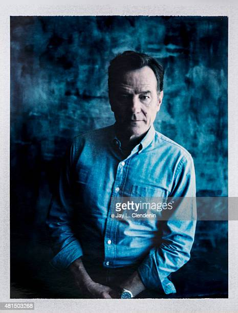 Actor Bryan Cranston of 'Supermansion' is photographed on polaroid film at ComicCon International 2015 for Los Angeles Times on July 9 2015 in San...