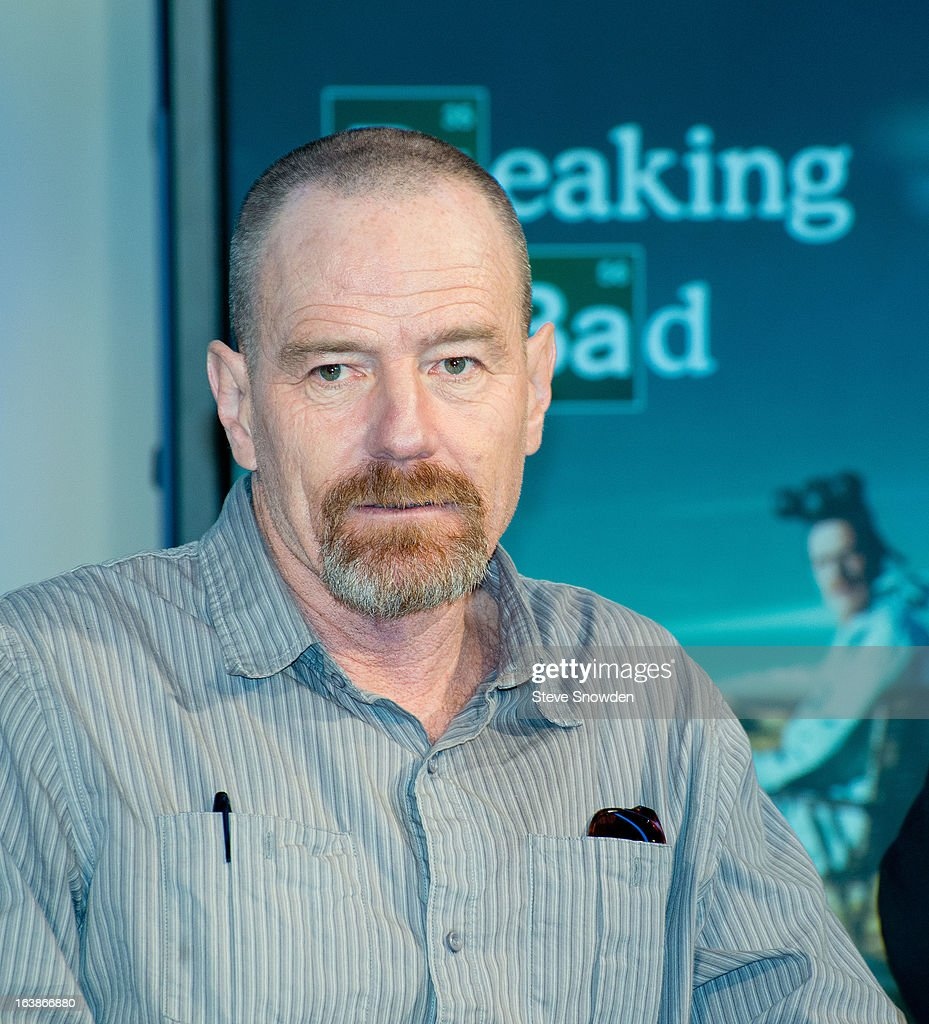 Actor Bryan Cranston participates in a tribute during the ABQ Studios And Youth Development Inc. Honor The Cast Of 'Breaking Bad' on at Albuquerque Studios on March 16, 2013 in Albuquerque, New Mexico.