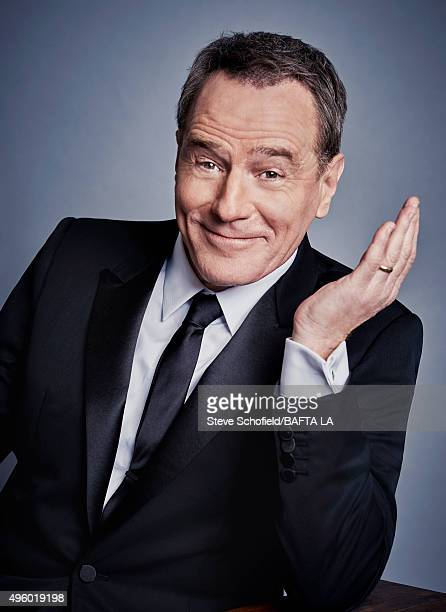 Actor Bryan Cranston poses for a portrait at the 2015 BAFTA Britannia Awards Portraits on October 30 2015 at the Beverly Hilton Hotel in Beverly...