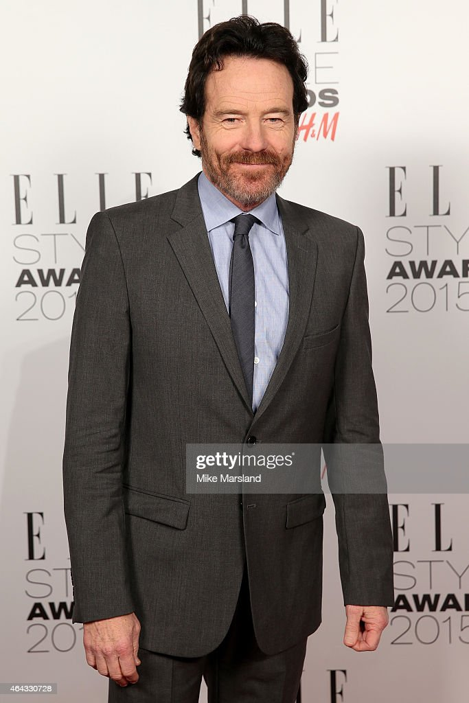 Actor Bryan Cranston poses in the winners room during the Elle Style Awards 2015 at Sky Garden @ The Walkie Talkie Tower on February 24 2015 in...
