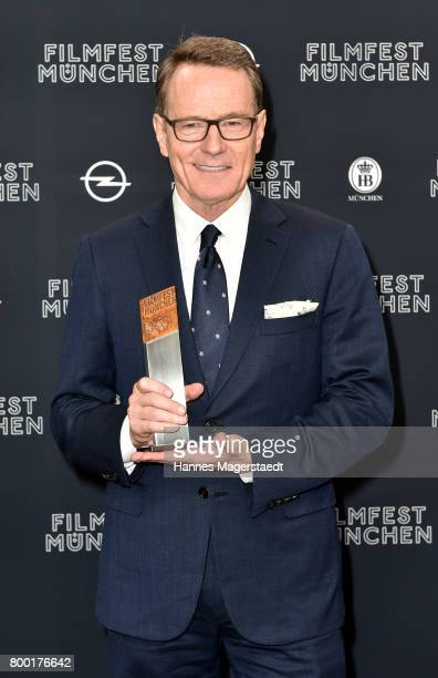 Actor Bryan Cranston received the Cine Merit Award 2017 during the Munich Film Festival 2017 at Gasteig on June 23 2017 in Munich Germany