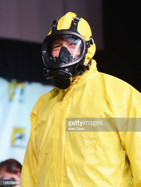 Actor Bryan Cranston speaks at AMC's 'Breaking Bad' Panel during ComicCon International 2012 at San Diego Convention Center on July 13 2012 in San...