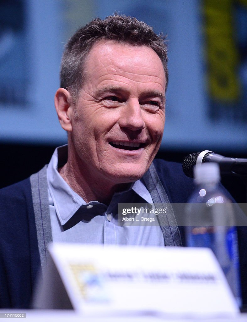 Actor <a gi-track='captionPersonalityLinkClicked' href=/galleries/search?phrase=Bryan+Cranston&family=editorial&specificpeople=217768 ng-click='$event.stopPropagation()'>Bryan Cranston</a> speaks onstage at the Warner Bros. and Legendary Pictures preview of 'Godzilla' during Comic-Con International 2013 at San Diego Convention Center on July 20, 2013 in San Diego, California.