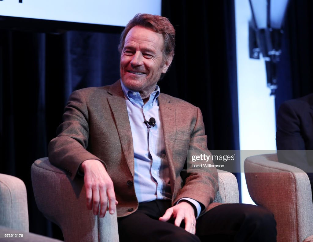 Actor Bryan Cranston speaks onstage during Amazon original series 'Sneaky Pete' Emmy FYC Screening and panel on April 26, 2017 in Hollywood, California.