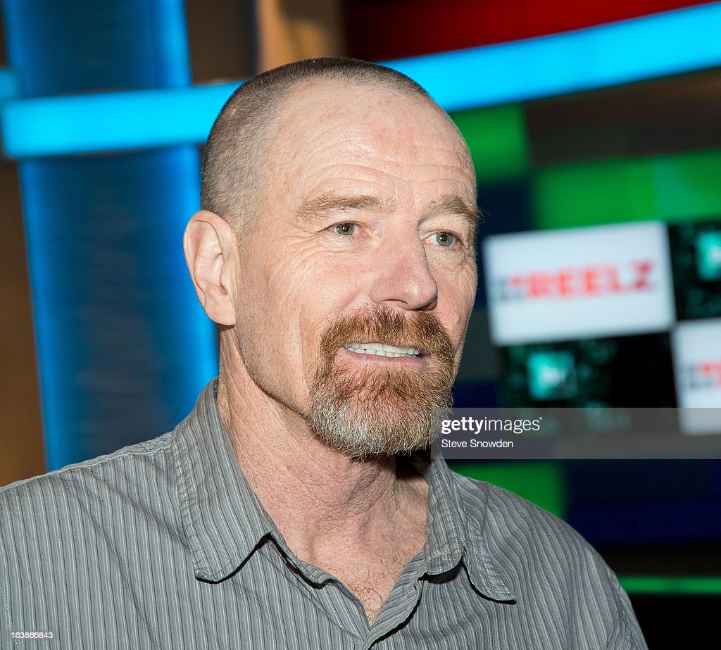 Actor Bryan Cranston speaks with the media prior to participating in a tribute during the ABQ Studios And Youth Development Inc. Honor The Cast Of 'Breaking Bad' on at Albuquerque Studios on March 16, 2013 in Albuquerque, New Mexico.