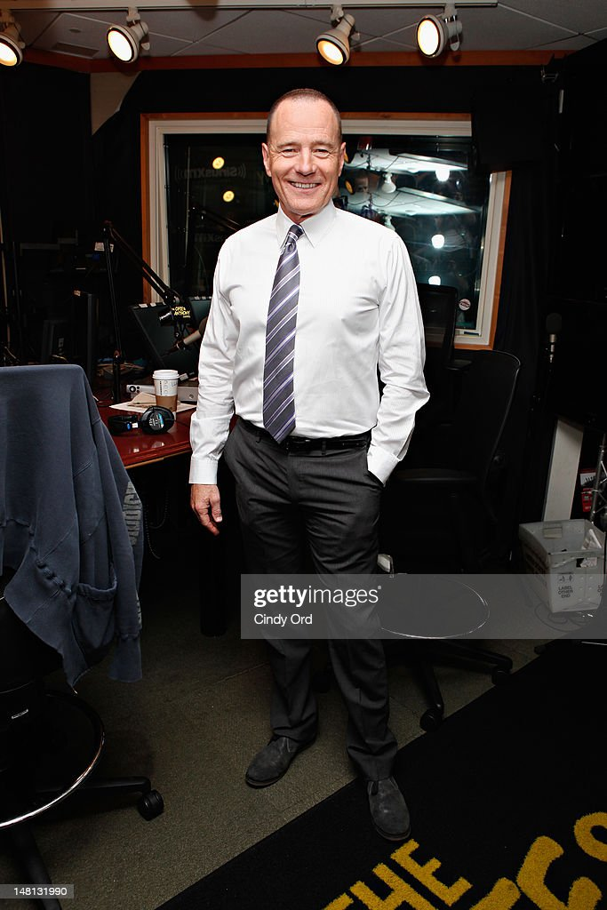 Actor <a gi-track='captionPersonalityLinkClicked' href=/galleries/search?phrase=Bryan+Cranston&family=editorial&specificpeople=217768 ng-click='$event.stopPropagation()'>Bryan Cranston</a> visits the SiriusXM Studio on July 10, 2012 in New York City.