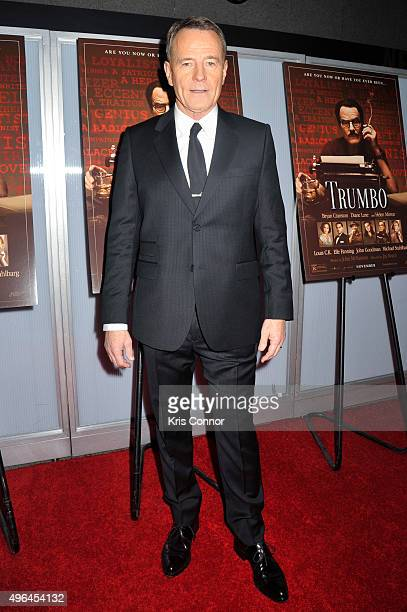 Actor Bryan Cranston walks the red carpet during the 'Trumbo' Washington DC premiere at the NEWSEUM in Washington DC on November 9 2015