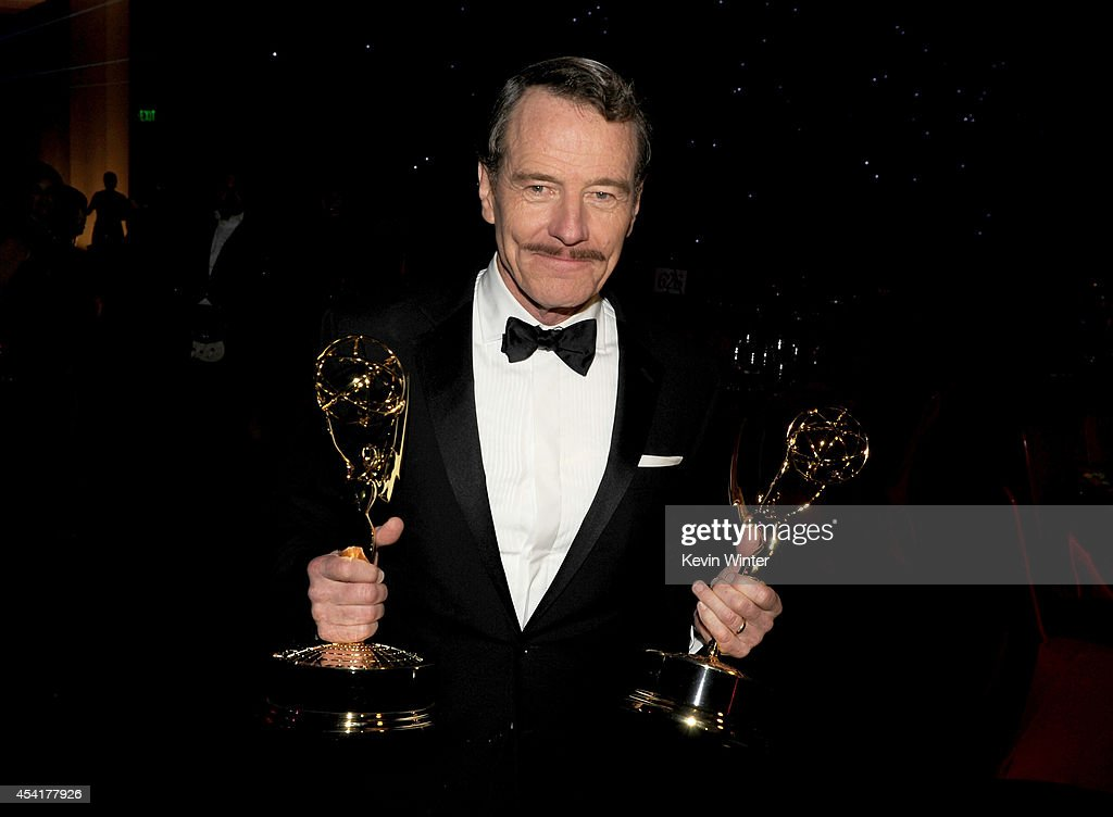 Actor Bryan Cranston winner of Outstanding Drama Series and Outstanding Lead Actor in a Drama Series for 'Breaking Bad' attends the 66th Annual...