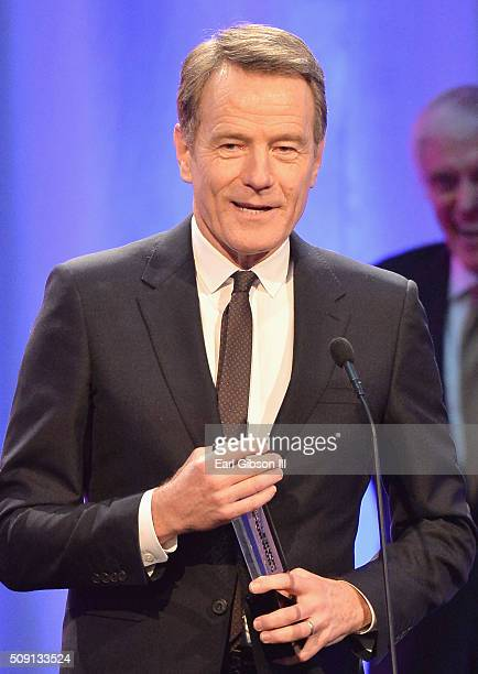 Actor Bryan Cranston winner of the Best Actor award for 'Trumbo' speaks onstage at AARP's 15th Annual Movies For Grownups Awards at the Beverly...
