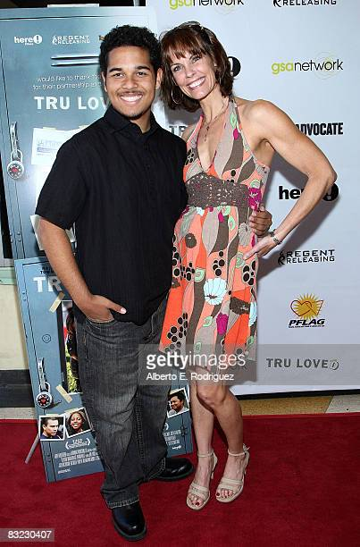 Actor Bryan Erickson and actress Alexandra Paul arrive at the premiere of Regent Entertainment's 'Tru Loved' held at the Regent Showcase Theater on...