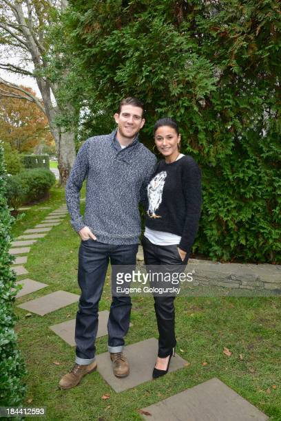Actor Bryan Greenberg and actress Emmanuelle Chriqui attend the 21st Annual Hamptons International Film Festival on October 13 2013 in East Hampton...