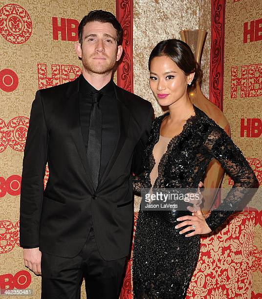 Actor Bryan Greenberg and actress Jamie Chung attend HBO's Golden Globe Awards after party at Circa 55 Restaurant on January 12 2014 in Los Angeles...
