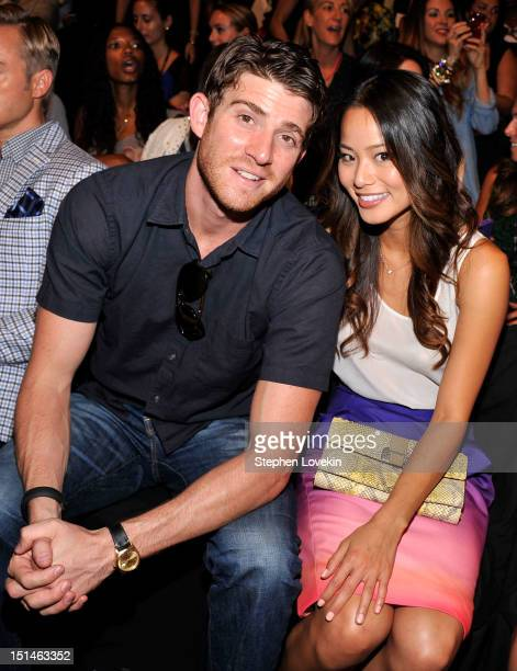 Actor Bryan Greenberg and actress Jamie Chung attend the Rebecca Minkoff Spring 2013 fashion show during MercedesBenz Fashion Week at The Theatre...
