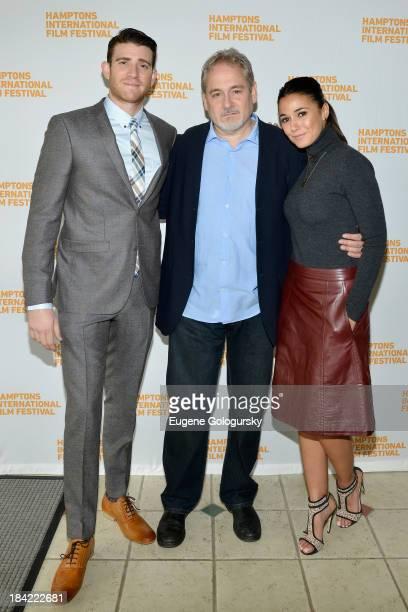 Actor Bryan Greenberg filmmaker Michael Maren and actress Emmanuelle Chriqui attend the 21st Annual Hamptons International Film Festival on October...