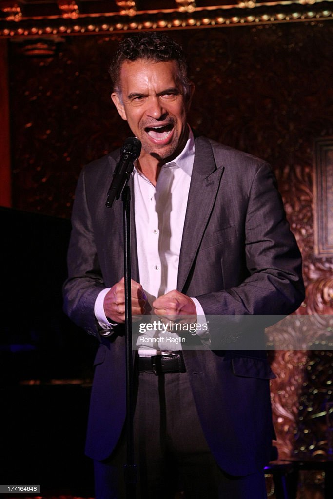 Actor Bryan Stokes Mitchell performs during the press preview at 54 Below on August 21, 2013 in New York City.