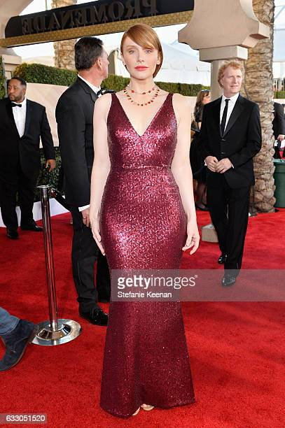Actor Bryce Dallas Howard attends The 23rd Annual Screen Actors Guild Awards at The Shrine Auditorium on January 29 2017 in Los Angeles California...