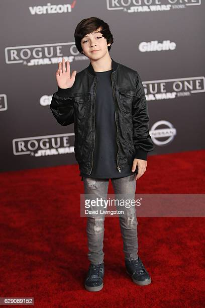 Actor Bryce Gheisar arrives at the premiere of Walt Disney Pictures and Lucasfilm's 'Rogue One A Star Wars Story' at the Pantages Theatre on December...