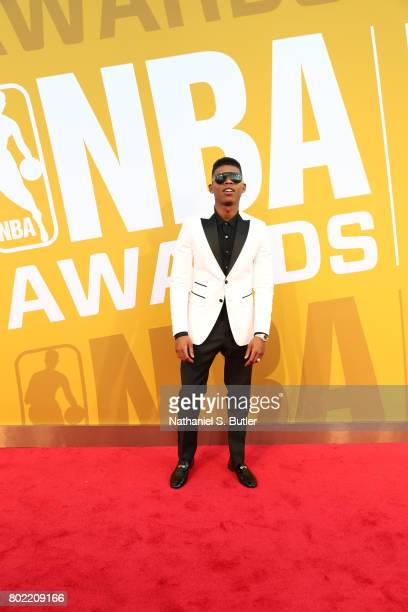 Actor Bryshere Gray on the red carpet at the NBA Awards Show on June 26 2017 at Basketball City at Pier 36 in New York City New York NOTE TO USER...