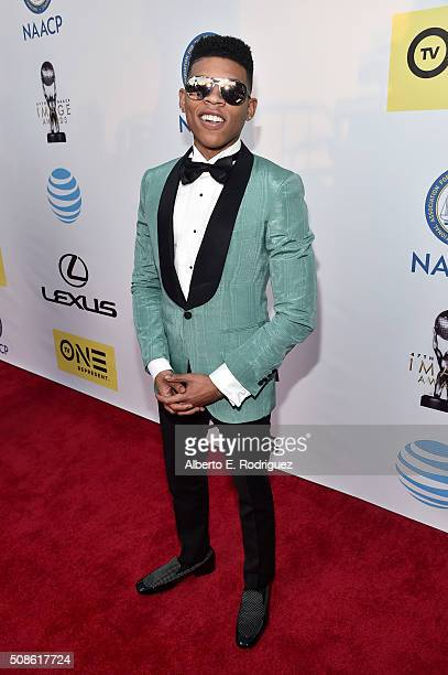 Actor Bryshere Y Gray attends the 47th NAACP Image Awards presented by TV One at Pasadena Civic Auditorium on February 5 2016 in Pasadena California