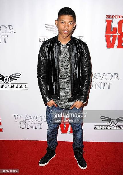Actor Bryshere Y Gray attends the premiere of 'Brotherly Love' at SilverScreen Theater at the Pacific Design Center on April 13 2015 in West...