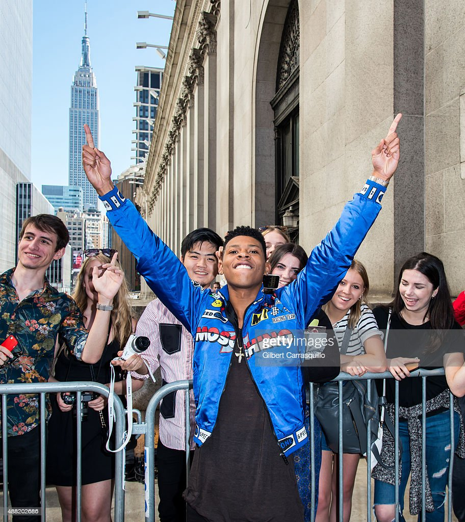 Actor Bryshere Y. Gray is seen arriving at Jeremy Scott fashion show during Spring 2016 New York Fashion Weekon September 14, 2015 in New York City.