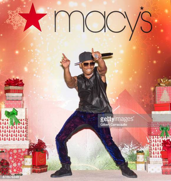 Actor Bryshere Y Gray performs during Macy's Center City Celebrates Its Annual Holiday Window Unveiling And Family Fun Day at Macy's Center City on...
