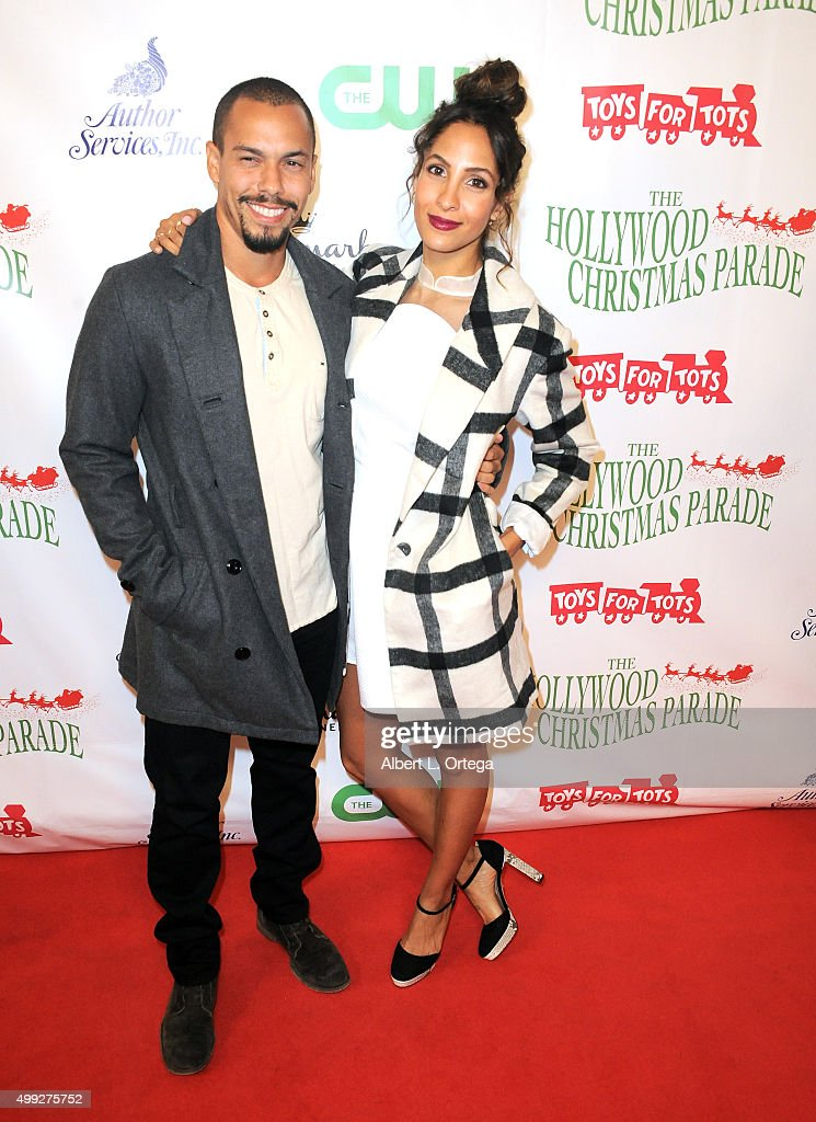 Actor Bryton James an actress <a gi-track='captionPersonalityLinkClicked' href=/galleries/search?phrase=Christel+Khalil&family=editorial&specificpeople=241522 ng-click='$event.stopPropagation()'>Christel Khalil</a> arrive for the 84th Annual Hollywood Christmas Parade held at The Roosevelt Hotel on November 29, 2015 in Hollywood, California.