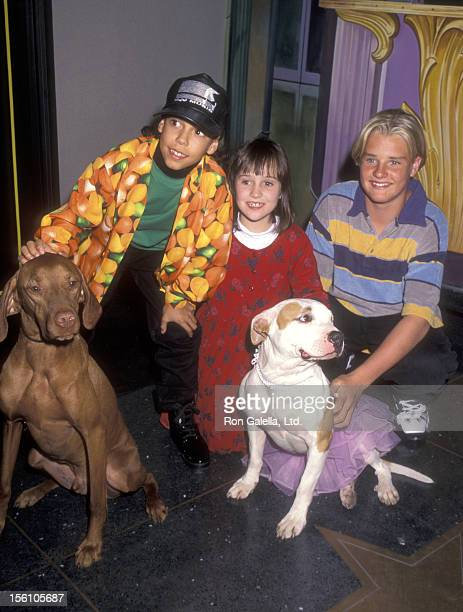 Actor Bryton McClure Actress Mara Wilson and Actor Zachery Ty Bryan attend the MM's Candies Hollywood for Children Family Film Festival on April 8...