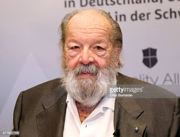 Actor Bud Spencer seen during an autograph session at the Ramada Hotel on June 20 2015 in Berlin Germany